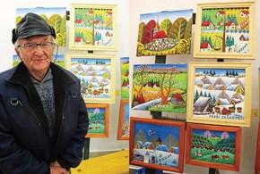 Cu bunicul în amintire, picturile rămân spre nemurire